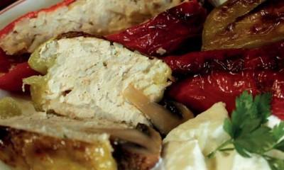 Mantar Başlıklı Peynirli Tavuk